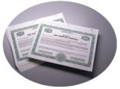 corporate kit: Stock Certificates